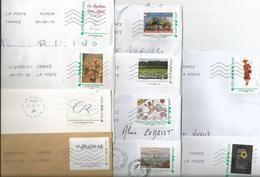 Lot De 10 Enveloppes Affranchies Avec Un MonTimbraMoi - France