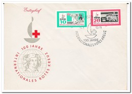 DDR 1963, FDC, 100 Years Red Cross - FDC: Enveloppes