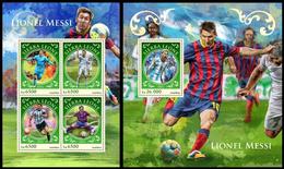 Sierra Leone 2016, Football, Lionel Messi, Klb + S/s, MNH - Fussball
