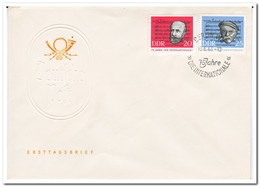 DDR 1963, FDC, 75 Years Of Fighting Song Of The International Socialist Workers' Movement - FDC: Enveloppes