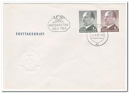 DDR 1963, FDC, Walter Ulbricht - [6] Oost-Duitsland