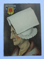André Stéfan, Personnage Traditionnel, Coiffe De La Région De Volvic, Auvergne - Künstlerkarten