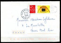 FRANCE - Timbre Avec Vignette Personnalisables - Y&T 3802A Sur Lettre (Club Philatélique Sallois) (C.à.D. En Rapport) - France