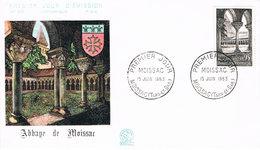 Frankreich FDC 1448 Abtei Von Moissac - Romanik, Architektur, Kreuzgang, Kloster, Monastry, Cloitre - FDC