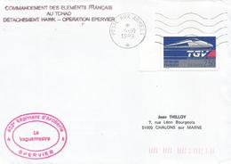 Tchad 1989 Poste Aux Armees Operation Epervier Military TGV Cover - Marcophilie (Lettres)
