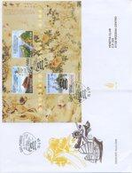 SAN MARINO - FDC VENETIA  2004 - DEDICATO ALLA CINA - BLOCCO - VIAGGIATA - FDC
