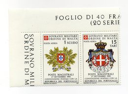 S.M.O.M. - 1985 - Convenzione Postale Con Il Portogallo - 2 Valori Con Bordo Di Foglio - Nuovo - Vedi Foto - (FDC13812) - Malte (Ordre De)