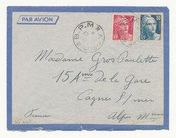 FRANCE 1946 - Lettre Postée Du B.P.M 4.3 (HANOÏ) Pour La France - Marcophilie (Lettres)