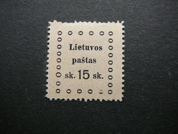 Kaunas Issue (III) # Lietuva Lithuania Litauen Lituanie Litouwen # 1919 MH #Mi. 21 - Lithuania