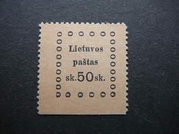 Kaunas Issue (III) # Lietuva Lithuania Litauen Lituanie Litouwen # 1919 MH # Mi. 25 - Lithuania