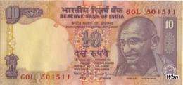 India 10 Rupees (P89) Letter Q Sign 88 -UNC- - Inde