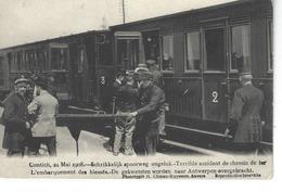 CONTICH - BELGIQUE - Accident Chemin De Fer 1908 - L'embarquement Des Blessés ( Belle Vue Animée ) - Kontich
