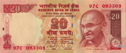 India 20 Rupees (P103) Letter R 2012 -UNC- - India