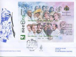 SAN MARINO - FDC VENETIA  2004 - MEETING DI RIMINI - BLOCCO FOGLIETTO - VIAGGIATA - FDC