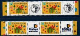 FR Timbres Personnalisés N° 3480A Paires Des 2 Versions Bord De Feuille ** MNH - France
