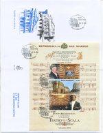 SAN MARINO - FDC VENETIA  2004 - TEATRO ALLA SCALA DI MILANO - BLOCCO - VIAGGIATA - FDC