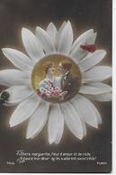 CP  - Couples - Chère Marguerite, Fleur D'amour Et De Rêve Exauce Leur Désir Qu'ils S'adorent Sans Tréve ! - Couples