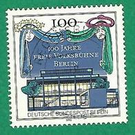 * 1990 N° 827 THÉÂTRE POPULAIRE LIBRE DE BERLIN OBLITÉRÉ  TB - [5] Berlin