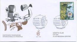 SAN MARINO - FDC VENETIA  2005 - FEDERAZIONE ITALIANA PESISTICA - VIAGGIATA - FDC