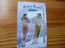 Phonecard Japan 271-138 Ski - Japon