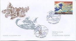 SAN MARINO - FDC VENETIA  2005 - LO TSUNAMI - VIAGGIATA - FDC