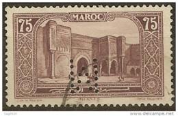 Maroc-Perforé-Ancoper M 16-Indice 5 - Maroc (1891-1956)
