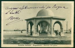 CARTOLINA - Z1345 COLONIE SOMALIA Mogadiscio Mercato Del Pesce, Viaggiata 1936 Per Milano, Affrancata Con Pittorica 10 C - Somalia