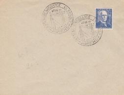 OBLIT. GF ILLUSTRÉE BRANLY - AMIENS 10/44 - S/ 599 BRANLY - TSF/RADIO - Marcophilie (Lettres)