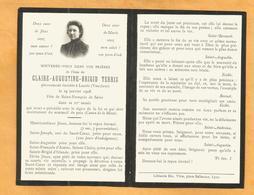 IMAGE GENEALOGIE FAIRE PART AVIS DECES CARTE MORTUAIRE TERRIS LAURIS 1887 1908 VAUCLUSE - Décès