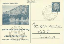 1937 Privatpostkarte Bismarck 4 Pf  Halle (Saale)  Borek-Katalog: 106 C2 - Allemagne
