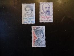 FRANCE 1976   N°  1896  à  1898   NEUF**   20% - France