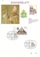 Allemagne Fédérale 1980 - Joannes Paulus II In Deutschland - 2 X  FDC - [7] République Fédérale