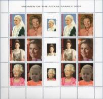 Dutch Antilles 2007 Dutch Queens Block Issue MNH Queen Emma., Wilhelmina, Juliana, Beatrix, Maxima, Princesses Amalia - Familles Royales