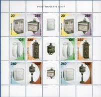 Dutch Antilles 2007 Mailbox Typees Block Issue MNH Brievenbus Pillar - Post