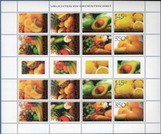 Dutch Antilles 2007 Vegitables & Fruit Block Issue MNH Pumpkins Avoocado Mango Citrus Fruit - Fruits