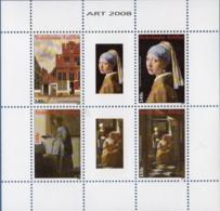 Dutch Antilles 2008 Paintings By Johannes Vermeer Block Issue MNH Little Street, Loveletter, Girl With Pearl Earring, - Arts