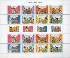 Dutch Antilles 2007 Local Comics Block Issue MNH Turtle Shark Parrot Cow Dog Goat Chicken Horse - Bandes Dessinées