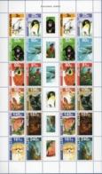 Dutch Antilles 2007 Fauna & Flora Block Issue Cockatoo Penguin Dolphin Butterfly Pantera Pomeranian - Timbres