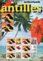 Dutch Antilles 2006 Greeting Marks 2 Block Issues MNH Birds - Curaçao, Antilles Neérlandaises, Aruba