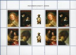 Dutch Antilles 2006 Rembrandt Selfportrait, Jewish Bride, Drapers Guild  Block Issue MNH Girl On Nachtwacht 17th Century - Rembrandt