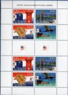 Dutch Antilles 2006 Stamp Exhibition Wahington 2008 Block Issue MNH Mail Box Bridge Plane Emblem - Expositions Philatéliques