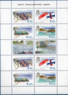 Dutch Antilles 2004 Philatelic Exhibition Singapore Block Issue MNH St Anna Bay, Otrobanda, Flags - Expositions Philatéliques