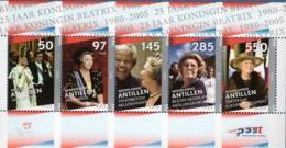 Dutch Antilles 2005 Silver Jubilee Queen Beatrixx Block Issue MNH - Familles Royales