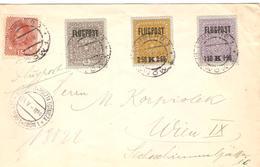 1918 Lettre Flugpost Yv 162+PA1/3 (Mi 221+225/27) De Lemberg Pour Wiien 23.V.18 -TB - 1850-1918 Empire