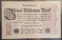 EBN6 - Germany 1923 Banknote 2 Millionen Mark Pick 104d #HO - [ 3] 1918-1933 : Weimar Republic
