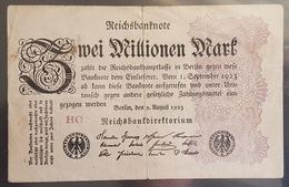 EBN6 - Germany 1923 Banknote 2 Millionen Mark Pick 104d #HO - [ 3] 1918-1933 : Repubblica  Di Weimar