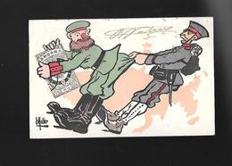 C.P.A. ILLUSTREE PAR MULLER...GUERRE RUSSO JAPONAISE... - Autres Illustrateurs