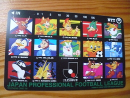 Phonecard Japan 111-095 Football - Japon