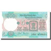 Billet, Inde, 5 Rupees, 1975, KM:80p, SPL - Inde