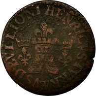 Monnaie, France, Liard Tournois, 1615, Sedan, TB, Cuivre, Boudeau:1849 - 476-1789 Monnaies Seigneuriales